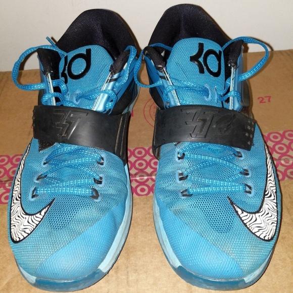 premium selection 2de3b eef41 Nike Zoom KD 7 VII Light Blue Clearwater Total Ora.  M 5c3fd3b9409c151ffb958ed2
